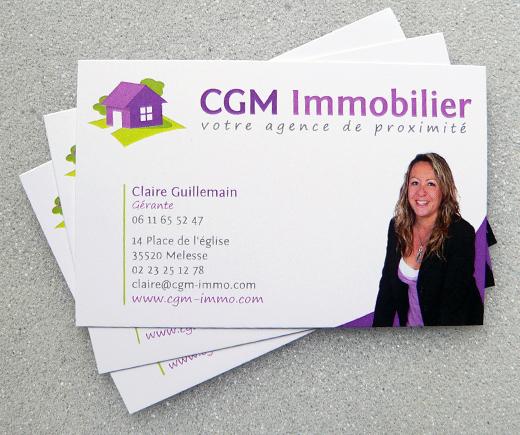Cgm Immobilier Melesse Carte De Visite 2